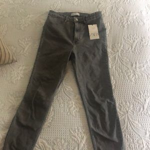 Zara high rise grey jeans